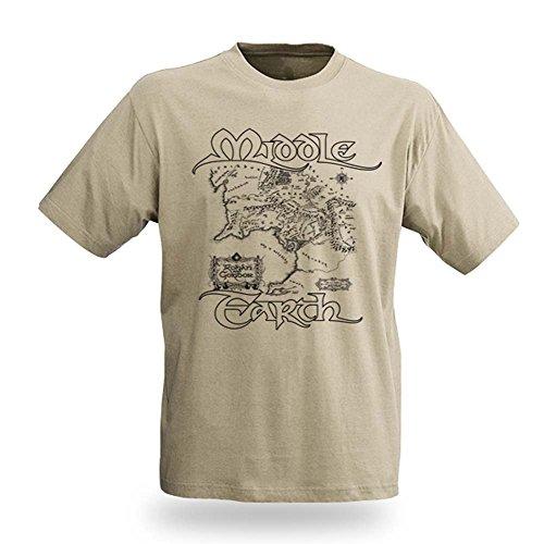 Il Signore degli Anelli - T shirt - Mappa della Terra di Mezzo - Stampa T shirt - L