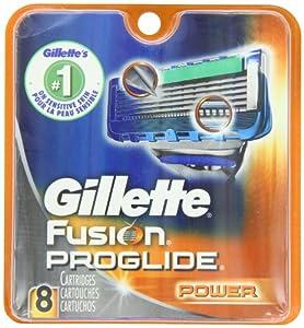Gillette Fusion Proglide Power Men's Razor Blade Refills 8 Count