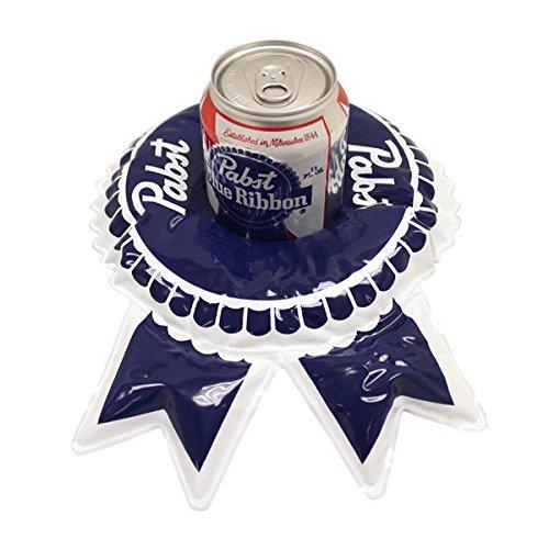 PBR Pabst Blue Ribbon Beer Floating Pool Beer Holder (Dog Beer Holder compare prices)