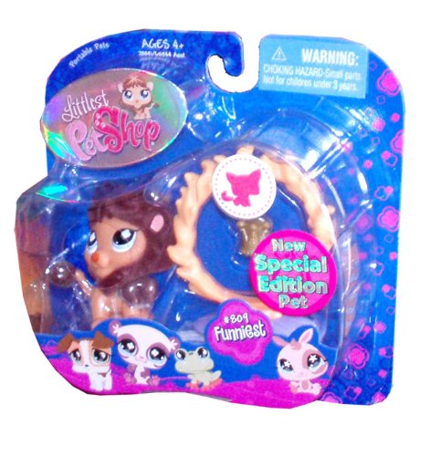 Buy Low Price Hasbro Littlest Pet Shop New Special Edition Pet Funniest Series # 809 Collectible Pet Figure – Lion with Crown and Circus Flaming Hoop (B002PUSJY2)