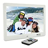 10.1 Inch Hi-Res TFT LED Digital Photo Frame & HD Video(1080P 720p)&Music Playback with Remote Control&Calendar Clock Support 32GB SD Card