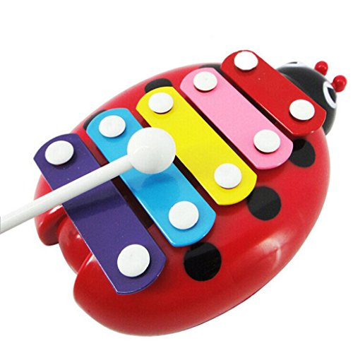 XILALU-baby-toy-Baby-Child-Kid-5-Note-Xylophone-Musical-Toys-Wisdom-Development-Beetle-rattle-red