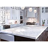 Countertop White Faux Marble TM by EzFaux Decor. Not your Grandma's Con-Tact Brand. 36' by 144