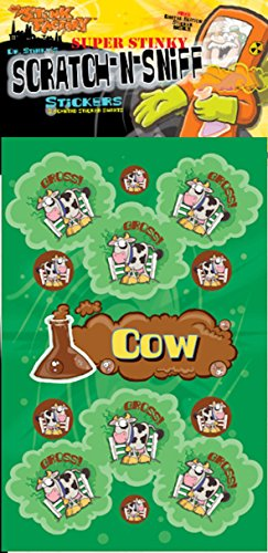 Scratch-N-Sniff Stickers- Cow