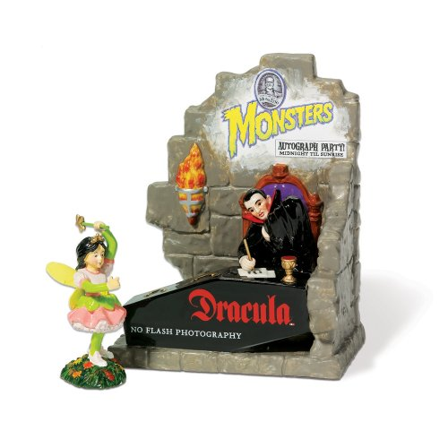 [Department 56 Snow Village Halloween Autographs With Dracula Set of 2] (Spirt Halloween)