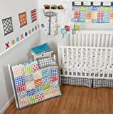Sumersault 10 Piece Crib Bedding Set, Doodles Bright (Discontinued by Manufacturer)