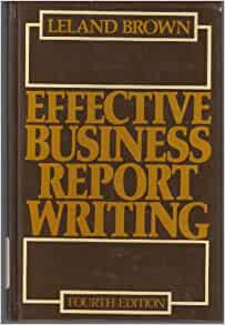 Elements of effective business report writing