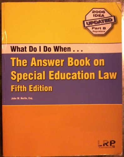 The Answer Book on Special Education Law