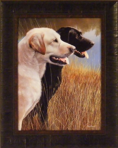 Hunting Companions by Kevin Daniel 17x21 Labrador Retriever Black Yellow Lab Dogs Framed Art Print Wall Décor Picture