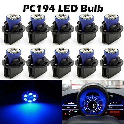 Partsam 10PCS PC164 194 168 T10 Wedge GM Instrument Panel LED Light Gauge Dash Indicator Bulbs with Twist Lock (Gm Instrument Cluster Bulbs compare prices)
