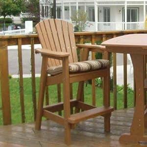 Amazon.com : Perfect Choice Furniture Bar Height Adirondack Dining