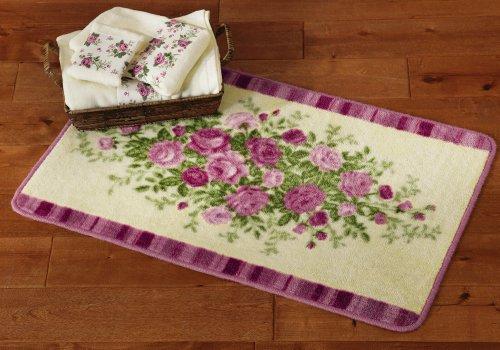 bathroom set pink country rose shower curtain bath rug 3pc towel. Black Bedroom Furniture Sets. Home Design Ideas