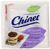 Chinet Classic Dessert Plate, White, Square, 6-3/8 Inch, 35 Count