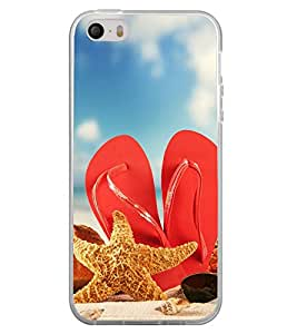 Beach Slippers 2D Hard Polycarbonate Designer Back Case Cover for Apple iPhone 4