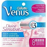 Gillette Venus Divine Sensitive Women's Razor Blade Refills 8 Count