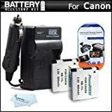 2 Pack Replacement NB-11L Battery And Charger Kit For Canon Powershot Elph 130 IS, 135, 140 IS, ELPH 150 IS, 170 IS, A2500, ELPH 340 HS, SX400 IS, ELPH 160, SX410 IS, ELPH 350 HS Digital Camera