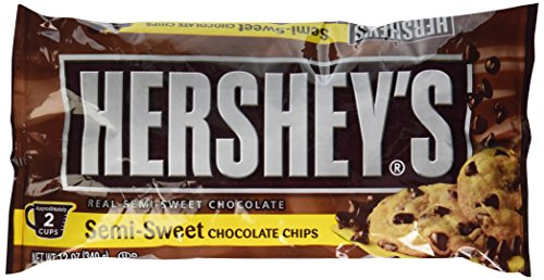 HERSHEY'S Chocolate Chips (Semi-Sweet, 12-Ounce Bags, Pack of 6)