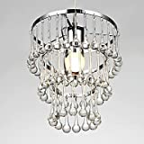 Elegant Modern 1 Light Pendant with Stilliform Crystal
