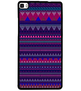 ColourCraft Tribal Pattern Design Back Case Cover for HUAWEI P8
