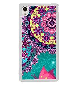 Bright Colourful Pattern 2D Hard Polycarbonate Designer Back Case Cover for Sony Xperia M4 Aqua :: Sony Xperia M4 Aqua Dual