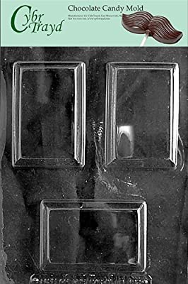 Cybrtrayd M192 Rectangular Soap Bar Chocolate Candy Mold with Exclusive Cybrtrayd Copyrighted Chocolate Molding Instructions