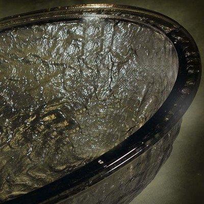 Glass Vessel Bathroom Sink Sink Finish: Cobalt Copper
