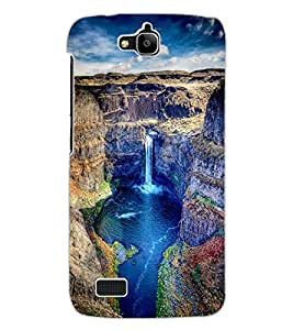 ColourCraft Beautiful Waterfall Design Back Case Cover for HUAWEI HONOR HOLLY