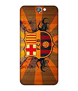 chnno Fcb 3D Printed Back cover for HTC One A9 -Multicolor
