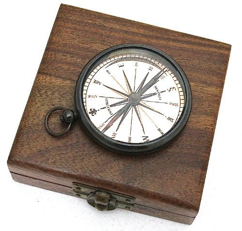 brass-pocket-compass-with-hard-wood-box-pocket-watch-type-compass