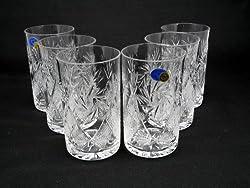 Russian Cut Crystal Drinking Glasses 8 oz for Metal Glass Holder Podstakannik Hot Tea Coffee