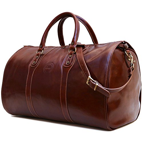 Cenzo Garment Duffle Travel Bag Suitcase in Brown