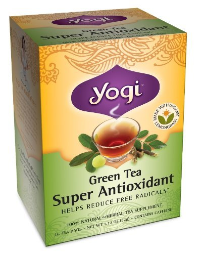 Yogi Green Tea Super Antioxidant, Herbal Tea Supplement, 16-Count Tea Bags (Pack Of 6), Garden, Lawn, Maintenance