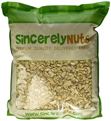 Sincerely Nuts Raw Cashew Pieces Unsalted- Ten (10) Lb. Bag - Sensationally Scrumptious - Total Freshness - Filled with Healthy Nutrients- Kosher (Raw Roasted Cashews compare prices)