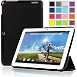 IVSO Slim Smart Cover Housse pour Acer Iconia A3-A20 10.1-Inch Tablette (Noir)