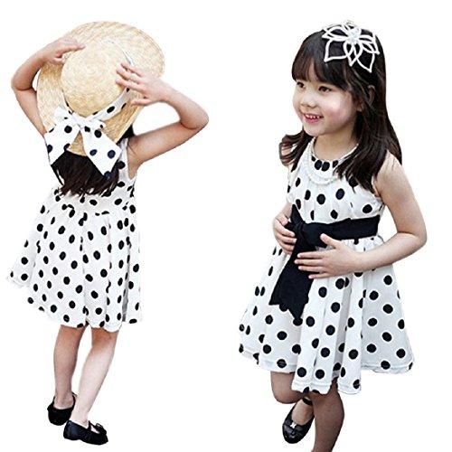 Susenstone(Tm) Clothing Polka Dot Girl Chiffon Sundress Dress For Kids (Xl) front-16033