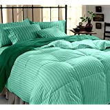 Dreamscape 100% Cotton 220 TC Sea Green Plain Double Bedsheet With 2 Pillow Covers (SS Sea Green)