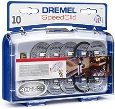 Dremel 2615S690JA SpeedClic Schneid-Set (SC-Aufspanndorn, 6 Metall- Trennscheiben, 2 dünne Präzisionstrennscheiben, 2 Kunstoff-Trennscheiben, Aufbewahrungsbox)