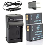 QIAOJINLIN 2-Pack Backup Energy Travel Kit for Panasonic DMW-BLE9 DMW-BLE9E DMW-BLE9PP Lumix DMC-GF3 DMC-GF3GK DMC-GF5 DMC-GF6 DMC-GX7 DMC-LX100 Digital Camera