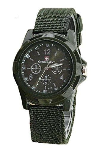 (ガン フリーク) GUN FREAK ミリタリー ウォッチ 腕時計 メッシュ ベルト アナログ サバゲー ( オリーブドラブ )