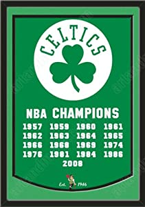 Dynasty Banner Of Boston Celtics With Team Color Double Matting-Framed Awesome &... by Art and More, Davenport, IA