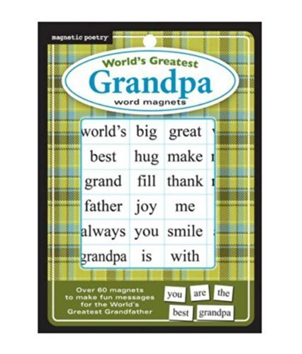 Magnetic Poetry World's Greatest Grandpa Refrigerator Magnets, Flat Pack 3309