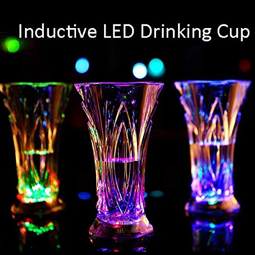 Inductive Glowing LED Drinking Beer Glass Cup Bar Club Beverage Cup Night Light Cup