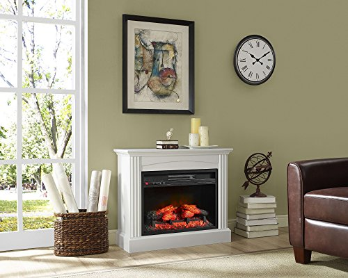 Whalen Furniture Fully Assembled Chesapeake  Mantel Electric - Mantel electric fireplace