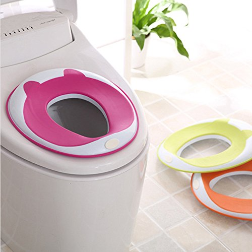 Potty Training Seat Secure Non-Slip Surface Prep Ring Toilet Trainer for 2 to 8 Years Old Unisex Baby Kids Children Toddler (Rose) (Potty Training Toilet Insert compare prices)