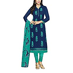 Applecreation Women's Blue | Synthetic unstitched dress materials for women party wear bollywood dress material for Casual | Ceremony | Evening Occasions