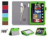 """Fire HD 7 (2014 Edition) case, FYY® Classic Slim Fit Folio Leather Case for Fire HD 7, 7"""" HD Display 2014 Green (With Auto Wake/Sleep Feature)"""