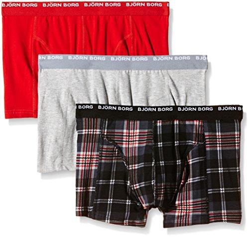 bjorn-borg-mens-basic-checkered-pack-of-3-boxer-shorts-black-caviar-medium