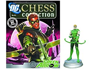 DC Chess Justice League Collector Figure & Magazine Green Arrow White Pawn