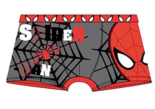 Spider-Man Marvel - Boxer Bambino Cotone Elasticizzato - Prodotto Originale OE3024 [Grigio - 6/8 anni]
