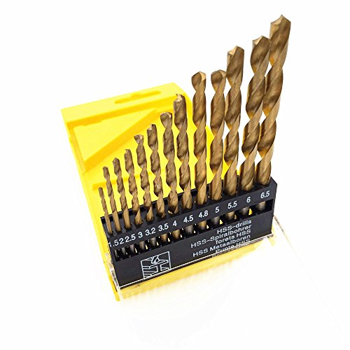 CECII-13PCS-152253323544548555665mm-HSS-Golden-Silver-High-Speed-Steel-Drill-Bit-Set-Tools-Titanium-For-Wood-Plastic-and-Aluminum-Copper-Steel